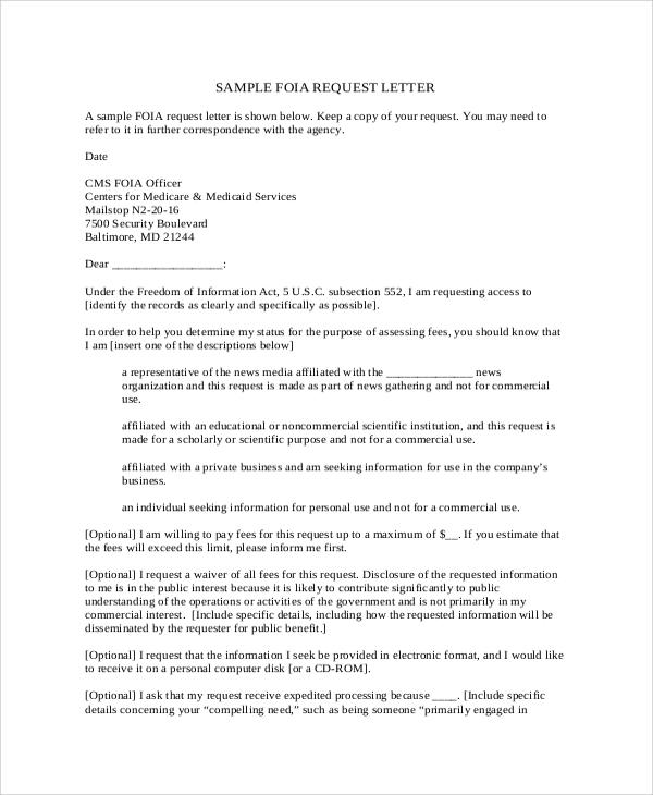 request letter sample pdf