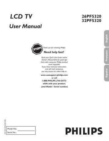 philips flat tv manual 42