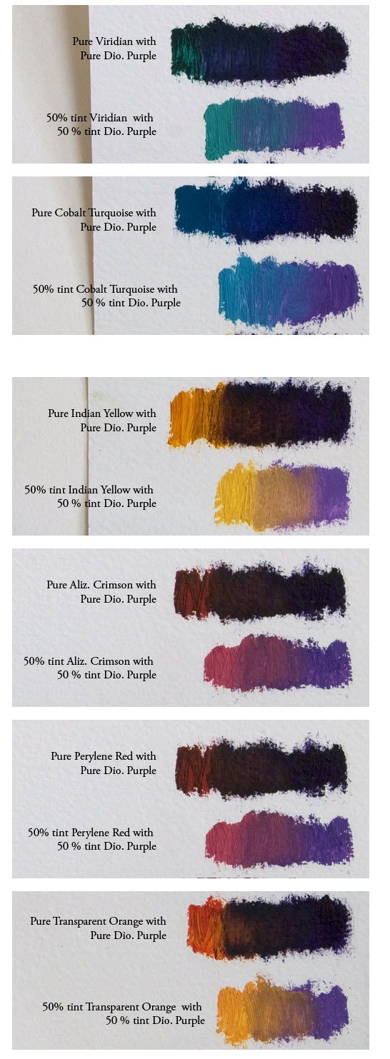 oil paint mixing guide
