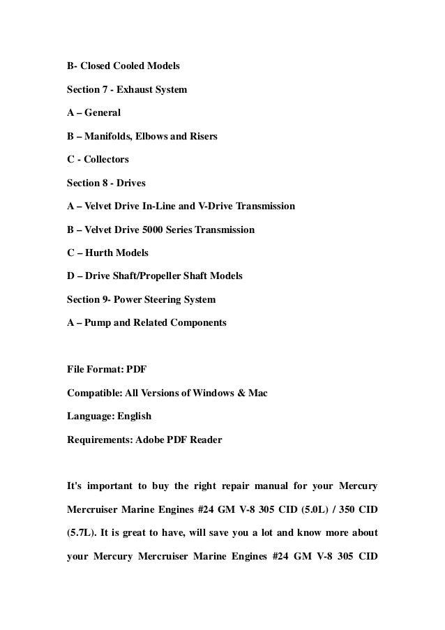 mercruiser 5.7 service manual