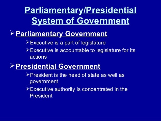 parliamentary system of government pdf