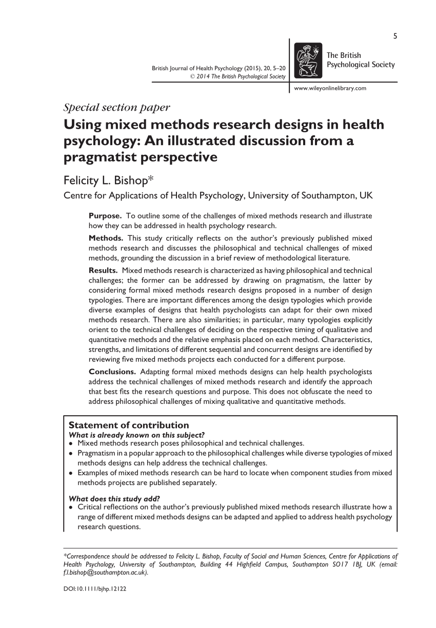 mixed methods research examples pdf
