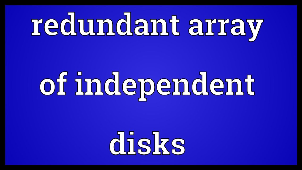redundant array of independent disks pdf