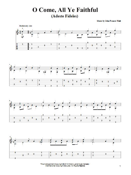 o come all ye faithful chords pdf