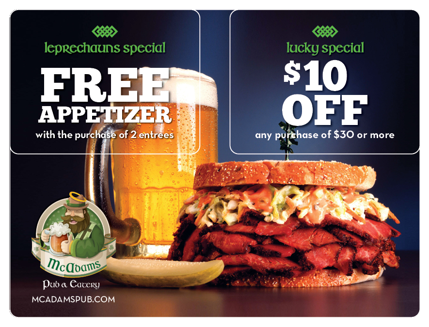 sample promotions for cafe pub
