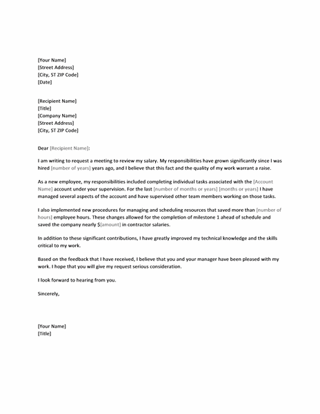 sample letter to increase working hours