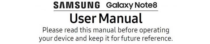 samsung note 8 user manual