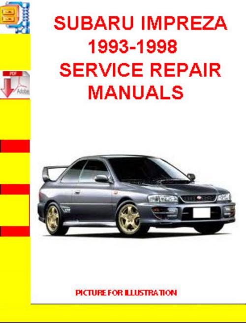 subaru impreza service manual download