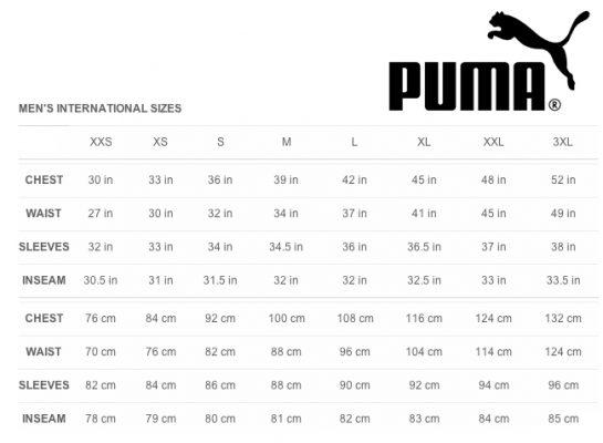 puma shoes guide size