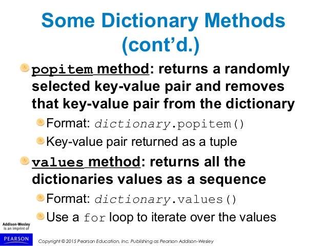 python 3 iterate dictionary