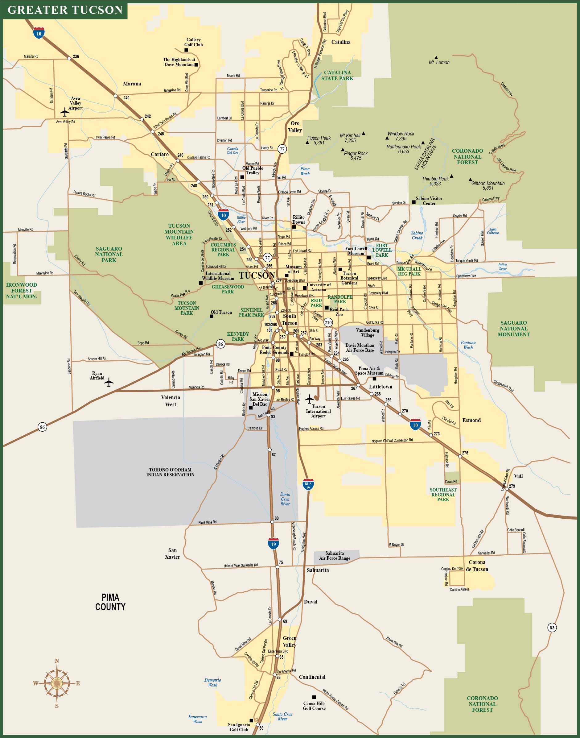 tucson map pdf