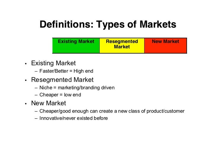 types of markets pdf
