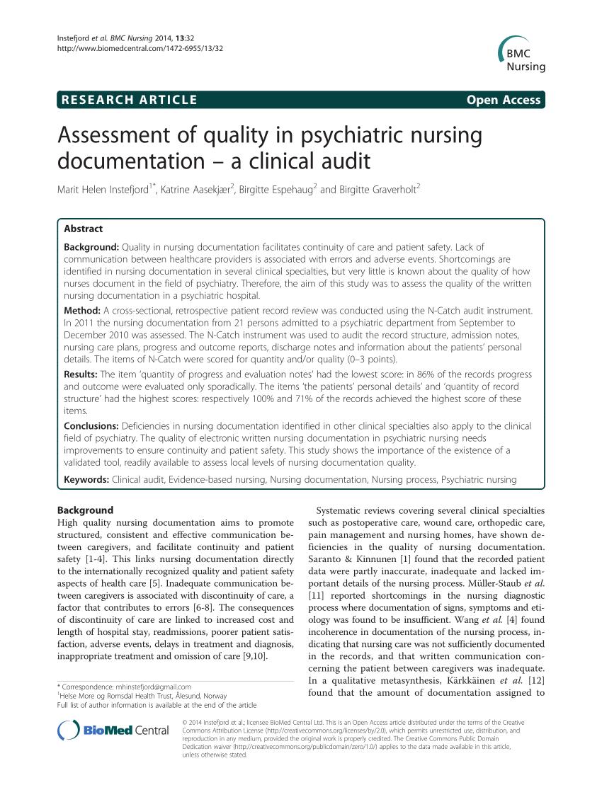 nursing documentation examples pdf