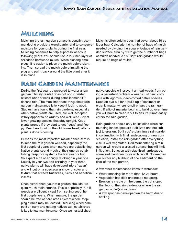 rain garden design manual