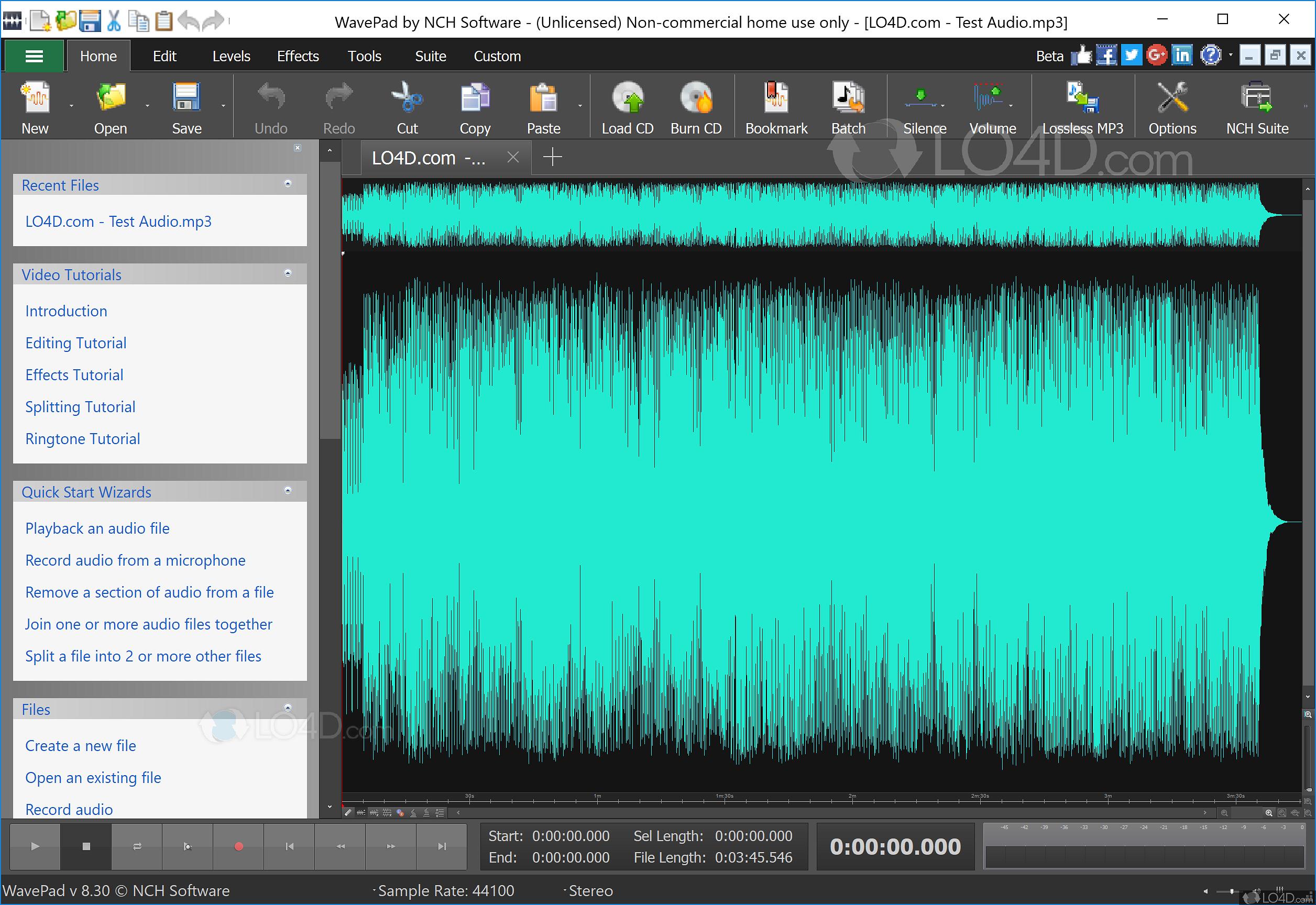 mixcraft remove sample silence