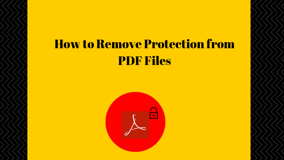 remove protection from pdf