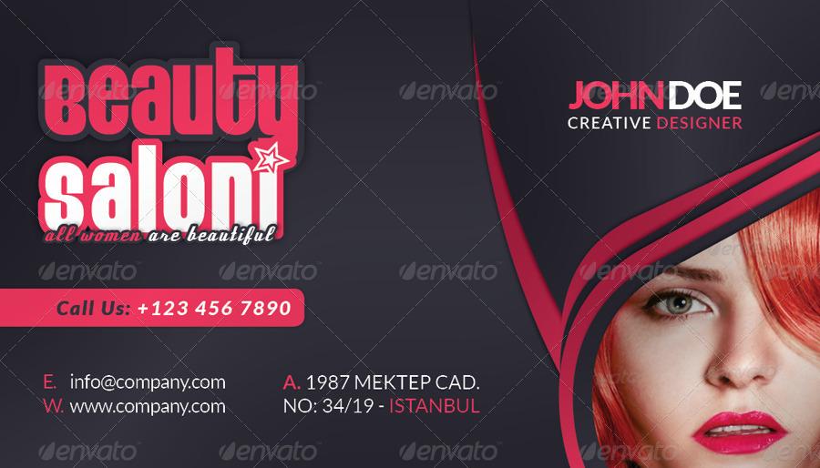 sample of beautician business cards design