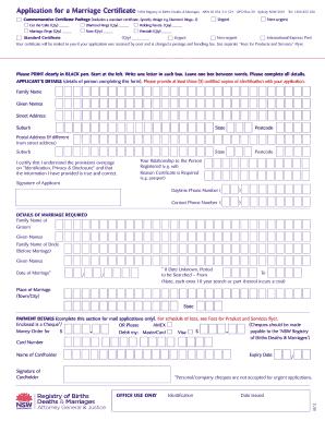 nsw bdm death certificate application