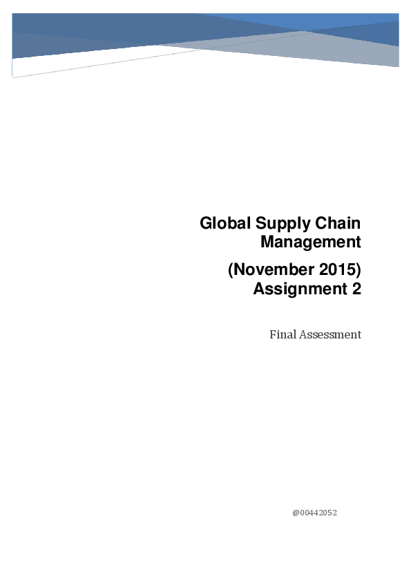 nike supply chain case study pdf
