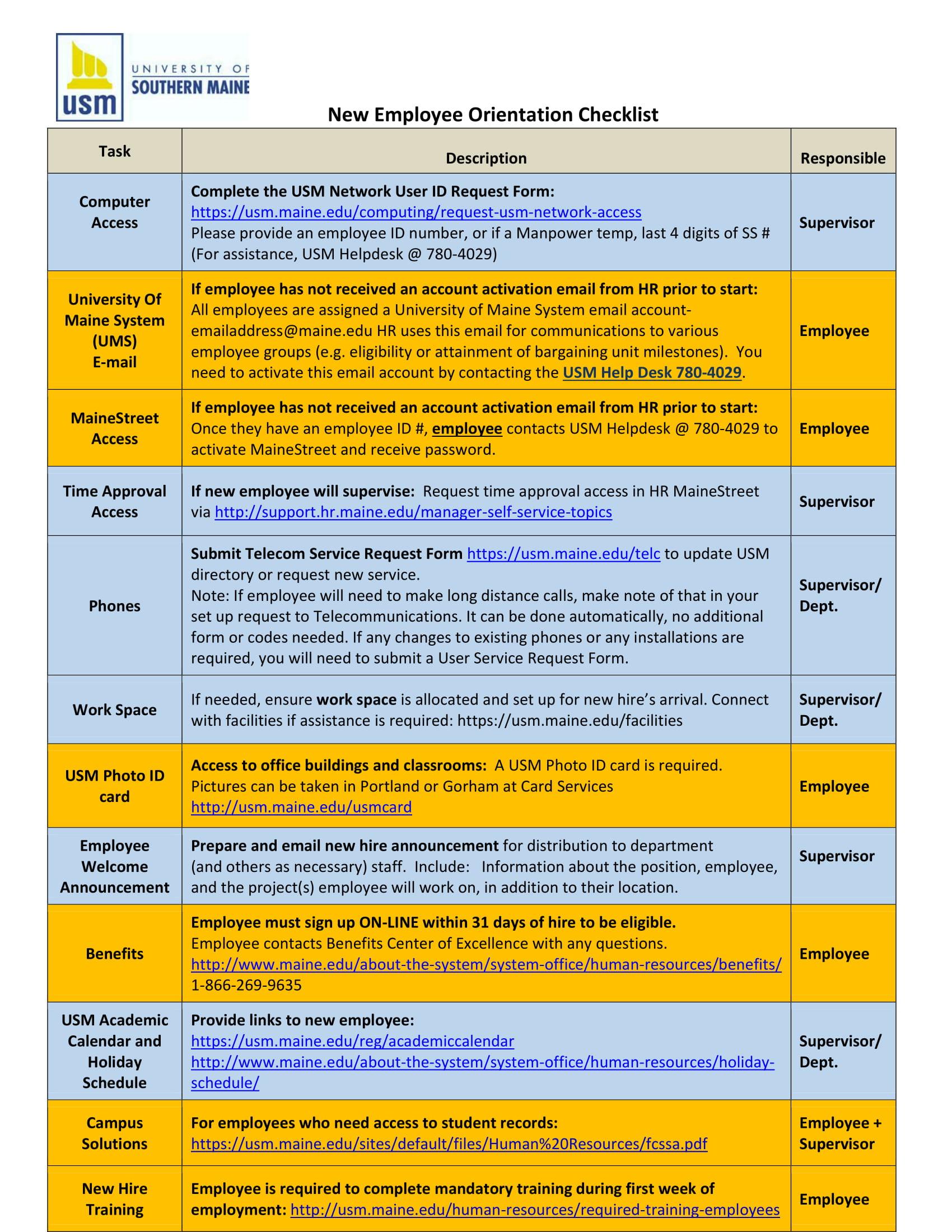 new employee orientation program sample pdf