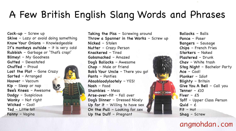 newark uk slang dictionary