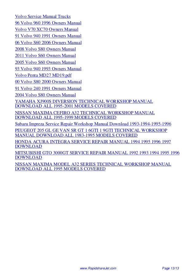 nissan a32 workshop manual