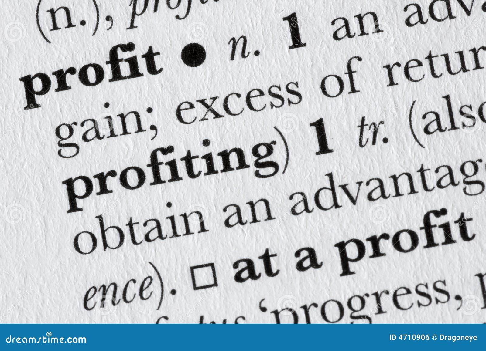 profit dictionary