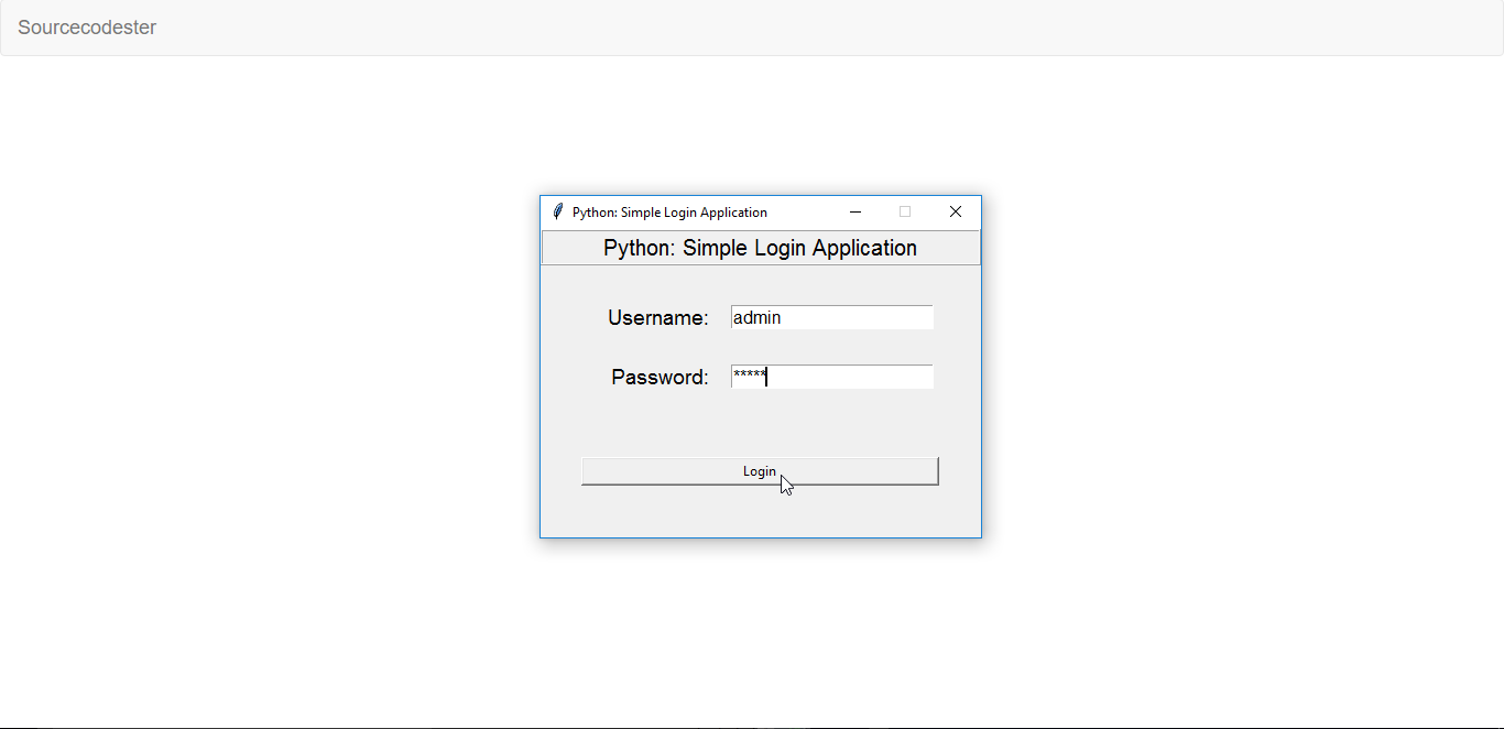 python database gui application