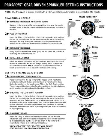 rain bird sprinkler manual start