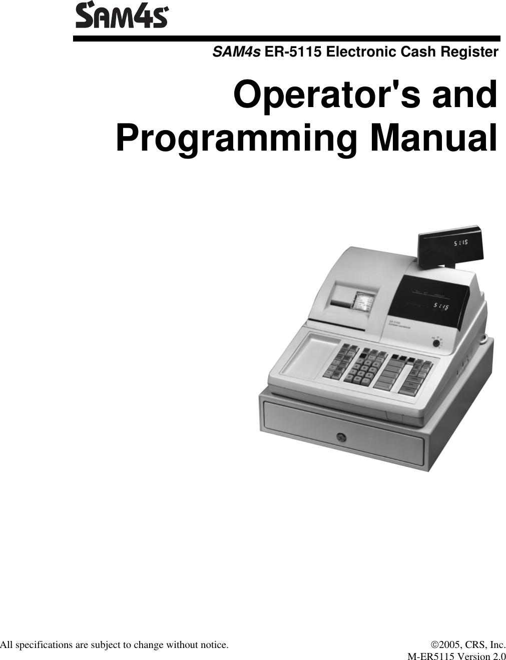 sam4s cash register manual
