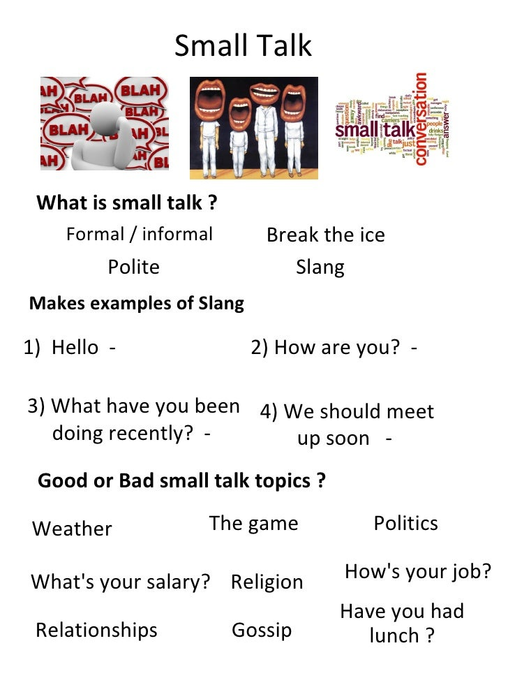 sample of small talk conversation