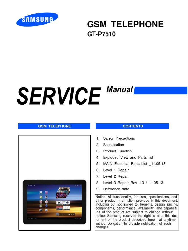 samsung gt p7510 manual
