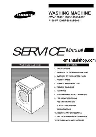 samsung manual for washing machine