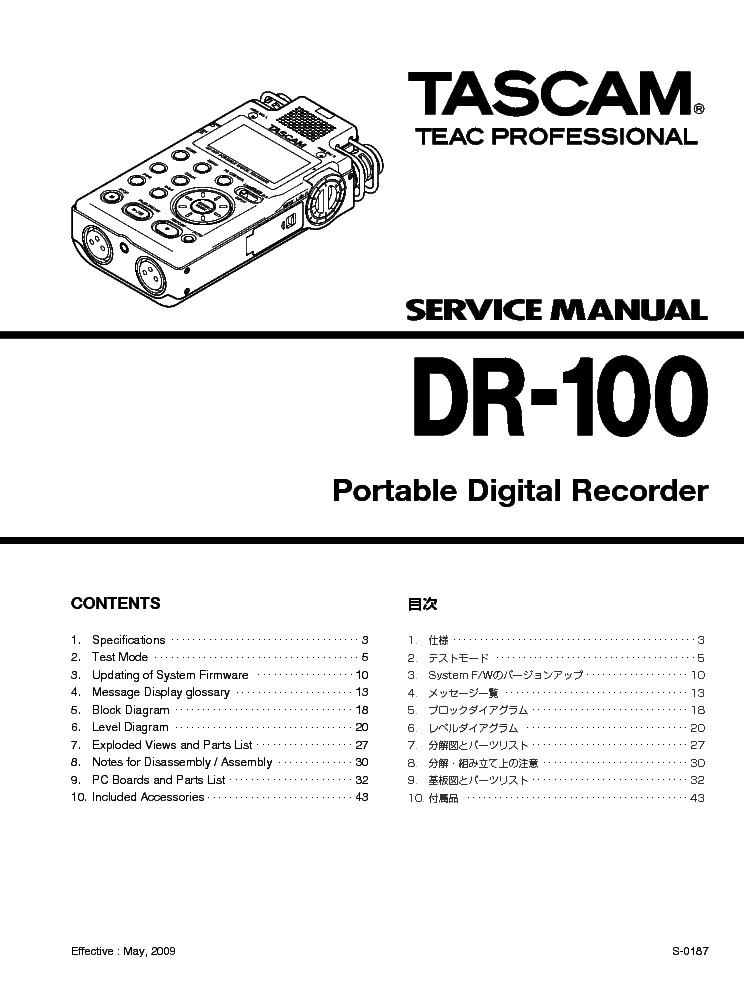 tascam 103 service manual