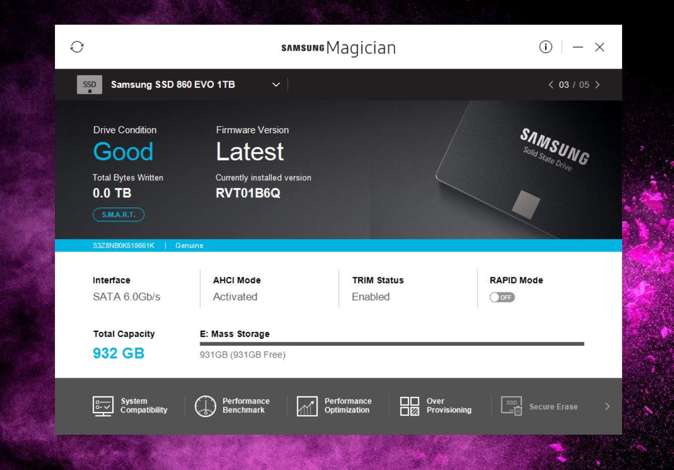 what is samsung magician application
