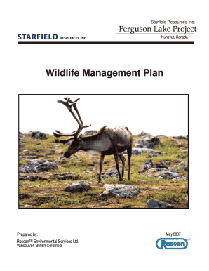 wildlife act application