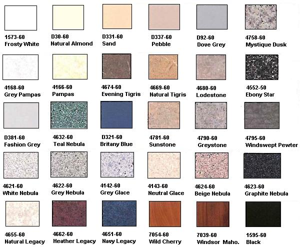 wilsonart laminate color chart pdf